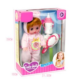 Jouets de corps en latex en Ligne-Baby Bottle Fashion Dolls 28 / 13cm Full Body Silicone Réaliste Réaliste Baby Doll Jouets Imperméables
