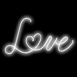 """Wholesale Commercial Color - Fashion Handcraft New Neon sign White color""""Love"""" Real Glass For Bedroom Home Display neon Lighht sign 14x7"""