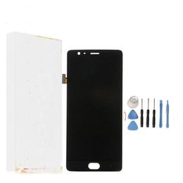 оптовые телефоны для повышения Скидка Для Oneplus 3 ЖК-Дисплей + Сенсорный Экран Новый Экран Digitizer Стекло Замена Панели Для Один плюс 3 Т Три С Рамкой 10