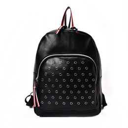 Wholesale Name Brand Backpack - SAN VITALE Women Backpack Leather Backpacks Softback Bags Brand Name Bag Preppy Style Bag Casual Backpacks Teenagers Backpack