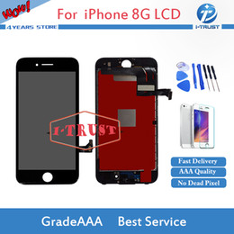 Wholesale iphone white parts - A+++ Quality LCD For iPhone 8 Display with 3D Touch Screen Digitzer Color Black White LCD Good Repair Replacement Part+ Free Shipping