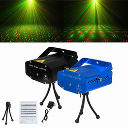 Wholesale Dj Tripods - X20 DHL Free Shipping 150MW Mini Red & Green Moving Party Laser Stage Light laser DJ party light Twinkle 110-240V 50-60Hz With Tripod