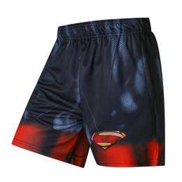imprimantes de marque Promotion Captain America 3d Imprimante Hommes Shorts Plus La Taille Respirant Plage Marque Vêtements Loose Homme Shorts Quick Qry Polyester Pantalon