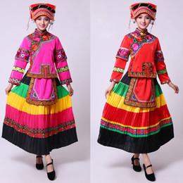 6c81b901adc5 2019 vestiti tradizionali cinesi etnici Le donne etniche Miao costume  antico tradizionale colorato danza popolare festa
