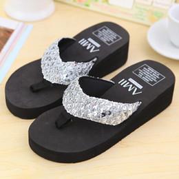 Wholesale Wholesale Platform High Heels - Wholesale- SCYL Summer Shoes Women Platform Sandals Wedge Flip Flops Sapato Feminino High Heel slippers Sandalias Plataforma Chanclas