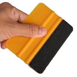 Wholesale Vinyl Wrap Gold Film - Gold 3M Felt Squeegee Car Household Cleaning Tools Vinyl Cleaner Carbon Fiber Car Foil Vinyl Film Wrap Window Tints Tools