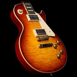 Envío libre / Guitarras de China Custom Shop / 1959 ICED TEA color / Cuerpo de caoba / Rosewood Diapasón / 6 cuerdas Guitarra eléctrica estándar / desde fabricantes