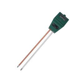 Medidor de suelo vegetal online-Alta calidad 3 en 1 humedad del agua del suelo humedad luz probador de ph para planta de jardín medidor de prueba con 2 sondas