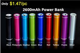 Wholesale Emergency Battery Mobile Phone - Cheap Portable 2600-3400mAh Cylinder Cell Phone Power Bank Shell External Backup Battery Charger Emergency Power Chargers for Mobile Phones