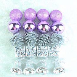 set di sfera di albero di natale Sconti 20 pz / set Albero di Natale Decor Ball Regali Stelle Ornamento Glitter Home Decorazioni di Natale Baubles Colore viola Y18102909