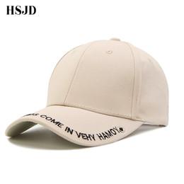 2018 Kahki Cap Women Summer Edition Brim Embroidery Letters Cotton Baseball  Cap Male Hip Hop Snapback Hat Sports Visor Unisex 15f51ededbe2