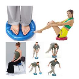 Ballon gonflable d'entraînement de forme physique de tapis de coussin d'équilibre de massage de disque d'équilibre de yoga de stabilité de PVC de 33cm avec 1 * air de pompe ? partir de fabricateur