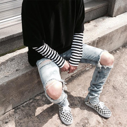 best denim washes Coupons - fear of god fog moto biker men's Hole classics Best version zippers skinny slim fit mens holes style cotton Denim ripped jeans 2018