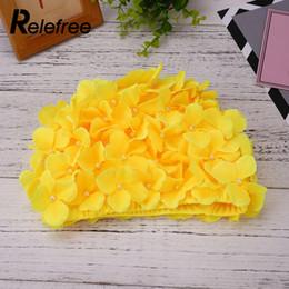 e5c999b61ab 2019 ladies swim cap Flor Petal Ladies Swim Cap Chinlon Hot Spring Sombrero  de colores para