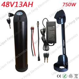 UE US Pas De Taxe 48V 13Ah Bouteille D'eau Lithium Ion Batterie Vélo Électrique Batterie avec Chargeur Ajustement BBS02 750W 1000W Bafang Moteur ? partir de fabricateur