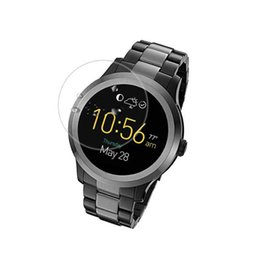 Wholesale Q Watches - Tempered Glass Protective Film Clear Guard For Fossil Q Founder Gen 1 2 Generation Watch Smartwatch Full Screen Protector Cover