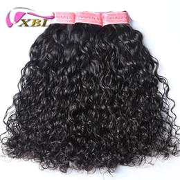 Cabelo brasileiro tece estilo on-line-Xblhair feixes de tecer cabelo brasileiro onda de água virgem feixes de cabelo humano dentro de outros venda quente estilo de cabelo