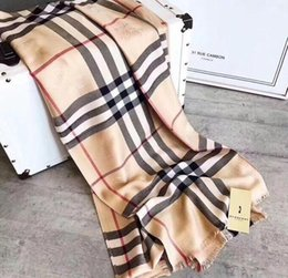 Luxury Winter Cashmere Scarf Pashmina For Women Brand Designer Mens warm Plaid Scarf Fashion Women imitate Cashmere Wool Scarves 180x70cm