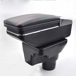 Wholesale Parts Stores - For 2017 KIA Rio 4 armrest box central Store content box cup holder ashtray interior car-styling decoration accessory part
