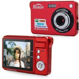 mejor grabadora de voz mp3 Rebajas Amkov CDC3 2.7 pulgadas TFT pantalla 18.0MP CMOS 5.0MP videocámara digital antivibraciones con zoom digital 8X