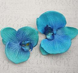 Wholesale Artificial Orchid Arrangement - High Quality Big size 12.5cm Free shipping silk artificial orchid flower shoe bag hat wrist corsage flower arrangements