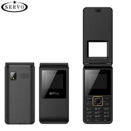 """contenitore di android tv sbloccato Sconti Flip Phone 1.77 """"Cellulare Tastiera Cellulare Spreadtrum6533 Doppia SIM Card GSM Vibrazione esterna alla radio FM"""