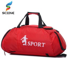 Hot Professional Large Sports Gym Bags Outdoor Waterproof Backpack Men Women  Packable Duffle Yoga Shoulder Bag Travel Handbag 528ccca533