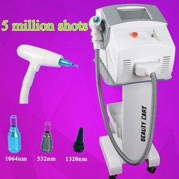 Wholesale Tattoo Machine Handle - Great q-switch laser Tattoo Removal system new tattoo machine equipped nd yag laser handle with 3 probes
