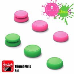 Wholesale Silicone Joystick Covers - Skull & Co 6 in 1 Thumb Grip Set Joystick Cap Thumbstick Cover for Nintend Switch Joy-Con Controller