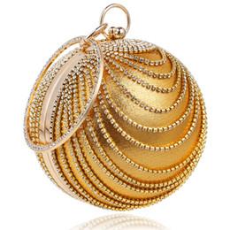 Canada Femme ronde boule d'embrayage sac à main en strass anneau poignée de bourse de sac du soir (or) Offre