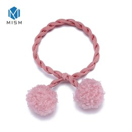 ball elastic hair ties Canada - Twist Rubber Bands for Hair Mulit Color  Pompom Balls Hair 130509c6ae4