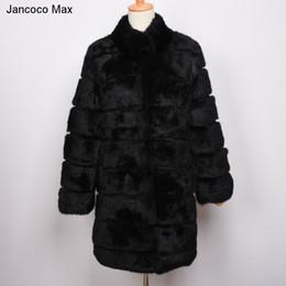 brand new 52b61 53a3f 2019 abiti max Jancoco Max 2018 Nuovo Inverno Reale Giacca di Pelliccia di  Coniglio Caldo Morbido