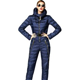 Wholesale Doudoune Femme - Super fashion! 2016 skinny winter jacket women parka duck down coat hooded skisuit rompers womens jumpsuit doudoune femme coats