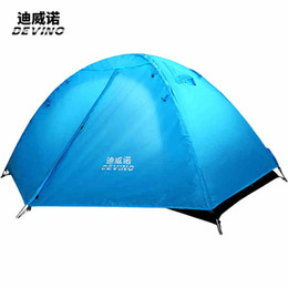 Wholesale professional construction - DEVINO Manual winter tents 2400G outdoor Camping Tent 4 Season 2 Person tents Professional camping tentAluminum alloy