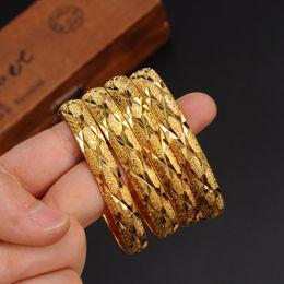 bracelets africains Promotion ensemble sale ouvert les plus récents Dubaï 10MM large Or Bangles Femmes Hommes 1pc Or Femmes Bracelets Africain Européen Éthiopie Hommes Bijoux Bracelets