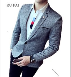 Wholesale Hotel Suits - 2017 Hotel British Wind new nightclub bar suit suits men Korean business casual fashion suit men