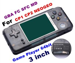 Wholesale Nes Lcd - 2018 RETROGAME Mini Handheld Game Player 64bit 3.0 inch LCD Portable Game Console For CP1 CP2 NEOGEO GBA FC SFC MD Format Games TF Card
