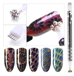 magic 3d pen Promo Codes - Flower Double-headed Magnetic Plate Line Magnet Pen DIY Tool for All Magic CANNI 3D Cat Eyes Magnet Nail Gel Polish