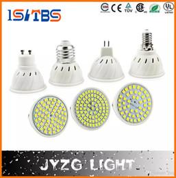 2019 smd führte e27 48 E27 E14 MR16 GU10 Lampada LED Birne 220V Bombillas LED Lampe Scheinwerfer 48 60 80 LED 2835SMD Lampara Spot Licht günstig smd führte e27 48