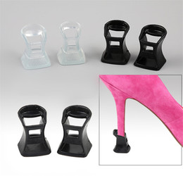 ca722816eb51 High heels protecter clear PVC Non-slip heel case lady Modern Latin dance  shoes soft bottom shoes nails black wear-resistant heel cover