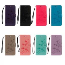 Búho billetera samsung online-Pie de imprenta Funda billetera para Iphone XR XS MAX X 8 7 6 Galaxy S10 Lite Note 9 S9 Flor de cuero Mariposa Cubierta del tirón del árbol Búho Bolsa Moda de lujo
