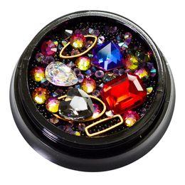 Strass di cristallo Aikimuse con artiglio cucire su cristallo di lacrima strass diamante metallo base fibbia decorazione di nozze da