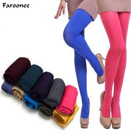 2c1050ff1c0 Hot Classic Sexy Women 120D Opaque Footed Tights Pantyhose Candy Color  Thick Tights Stockings Women Fashion Autumn S202
