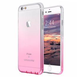 Wholesale Purple Se - Transparent Gradient Color Case Luxury Protector Phone Shell Cases For iPhone X 8 7 6 6S Plus 5 5S SE Clear Back Cover