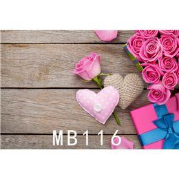 backdrops igreja Desconto LB Poliéster Vinil Fundos Para Estúdio de Fotografia Fotografia Backdrops caixa de Presente rosa rosa Branco Artesanal Amor Decoração Placa De Madeira