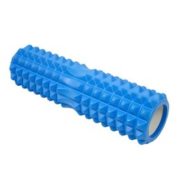 Wholesale Tube Roller - 45*14 Size Matrix Massage Foam Roller Blue Yoga block Fitness Pilates Yoga Column Gym Equipment EVA top + PVC tube EVA top + ABS