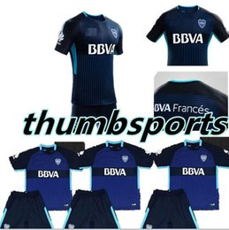 Wholesale University Blue Shirt - The new New Jersey 2017 2018 Boka second away football shirt set the young adult club, University LanJin, uanl custom boy football uniforms