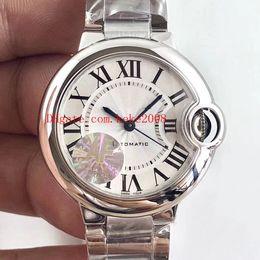 2019 senhoras relógios de pulso Luxo Clássico Melhor Relógio De Pulso De Edição de fábrica AF BALLON BLEU W6920071 33mm Aço Inoxidável Mecânico Automático Das Senhoras Das Senhoras Relógios senhoras relógios de pulso barato