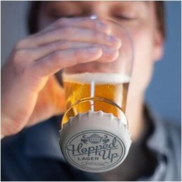 Wholesale Drinking Caps - Hopped Up Beer Glass Hopside Down Bottle Shaped Beer Mug with Silicone Cap for Home Party Beer Wine Whisky Drinking Glasses CCA9168 20pcs