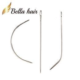 couture des extensions de cheveux Promotion Bella Hair® Tresse à aiguilles à tisser professionnelle Tige d'aiguille à coudre C I J Pour perruque 12pcs